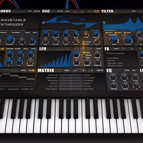 Tone2 Icarus Spacetrip soundset demo work