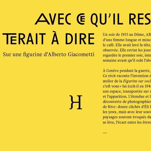 Lecture - Anne Maurel - Giacometti - par Catherine Soullard