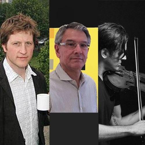 Radio Something: Peter Liversidge (artist), Richard Klein (curator), Christopher Tignor (musician)