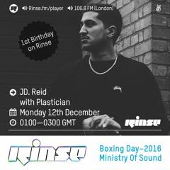 Rinse FM Podcast - JD. Reid w/Plastician - 12th December 2016