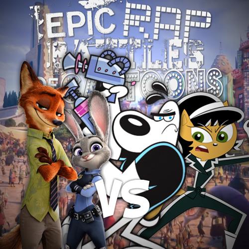 Nick Wilde & Judy Hopps vs Dudley Puppy & Kitty Katswell. Epic Rap Battles of Cartoons 55.