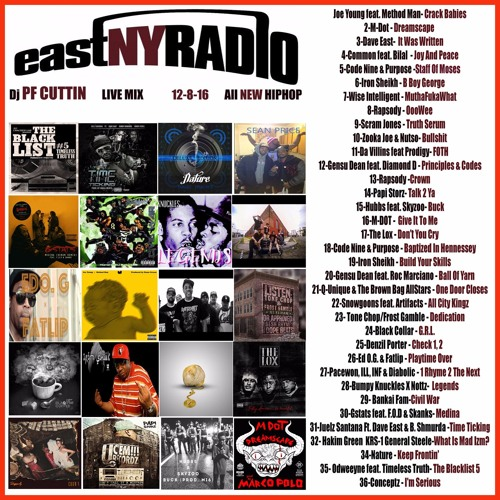 EastNYRADIO 12-8-16 Dj PF CUTTIN all NEW HIPHOP mix