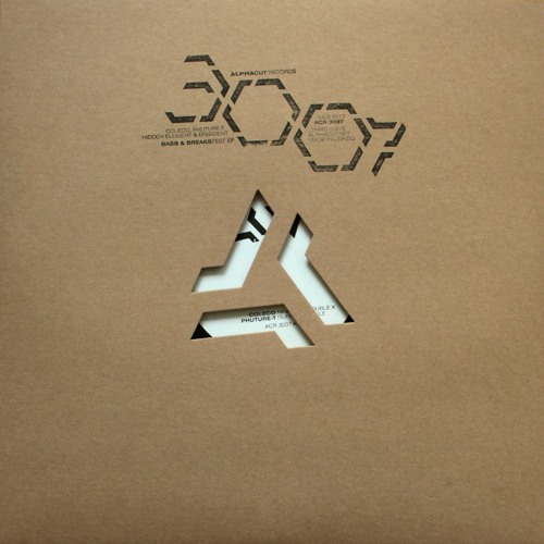 coleco, phuture-t, hidden element & dissident: bass & breaksfest ep (reel, acr 3007, 12inch)