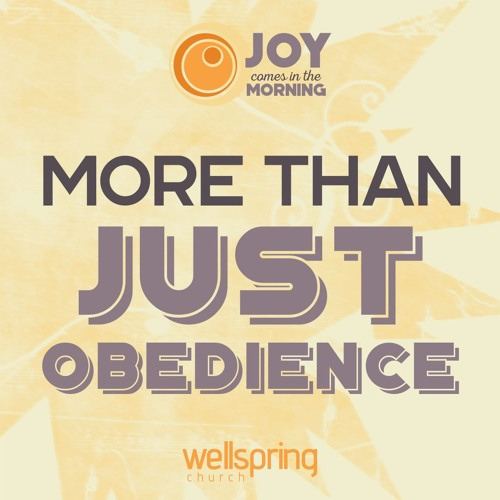 More Than Just Obedience   Pastor Steve Gibson 12.18.2016