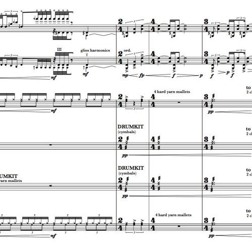 Faith In Numbers: Concerto for Violin with Percussion Quartet (Mira Benjamin/Architek Percussion)