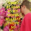 I WAS AS HIGH AS MY HOPES AT LEAST I HOPE SO