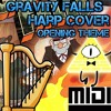 Gravity Falls - Opening Theme/Weirdmageddon - Harp Cover + MIDI Download