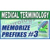 Medical Terminology Prefixes 3 | Memorize Biology Nursing Dictionary Words Made Easy for Beginners