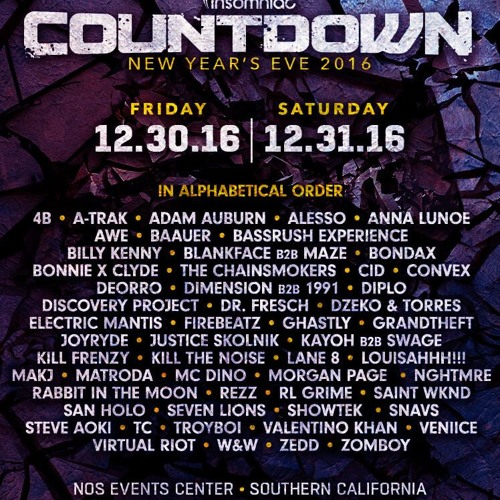 CID - Live @ Countdown NYE 2016 (FREE DOWNLOAD) by calif1 on