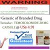 Buy Generic of Branded Drug Temodal Temodar : TEMOZOLOMIDE 20 MG CAPSULE @ US$ 4.91