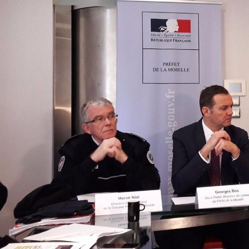 Hervé Niel, DDSP de la Moselle présente le dispositif de sécurité pour le Mondial de Handball à Metz