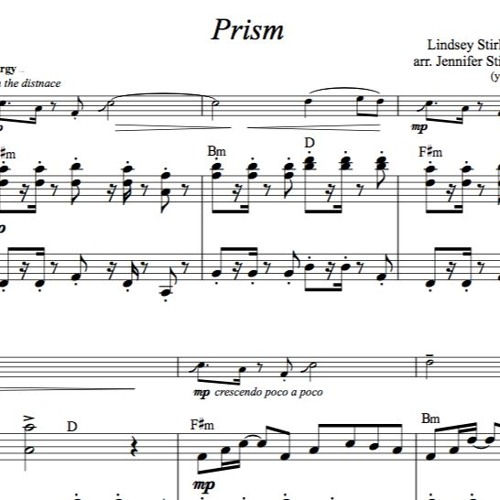 Prism Piano Accompaniment Sample By Lindsey Stirling Sheet
