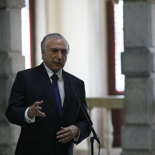 Declaração à imprensa do presidente Michel Temer aos jornalistas em Portugal