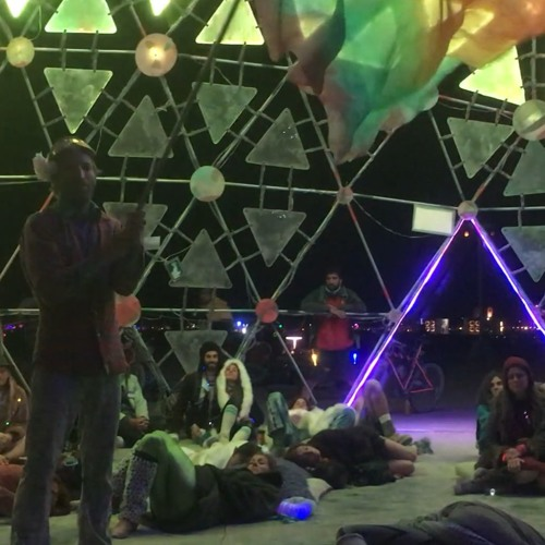 Reverbia's Radiance Dome at Burning Man 2016 - CelloJoe leads the funky force