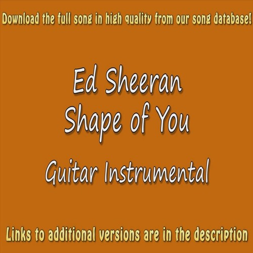 Ed Sheeran - Shape Of You (Acoustic Karaoke) by