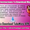 Instructions To Download MP3 Files Via TubeMate 2..9