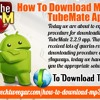 How to download MP3 files in TubeMate app?