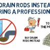 Buy Drain Rods Instead Of Hiring A Professional