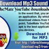 How To Download Mp3 Sound Files On TubeMate YouTub
