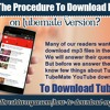 What Is The Procedure To Download MP3 Files On TubeMate Versionspeech