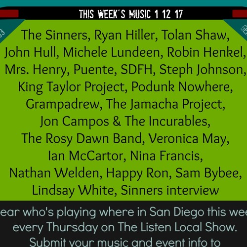 The Listen Local Show 1 12 17