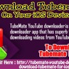 Download TubeMate On Your IOS Device