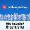 Facebook Élő Video - 18 téma ötlet | MM 30