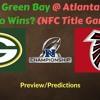 NFC Championship Game (2017)- Atlanta Falcons Vs Green Bay Packers, Who Wins?