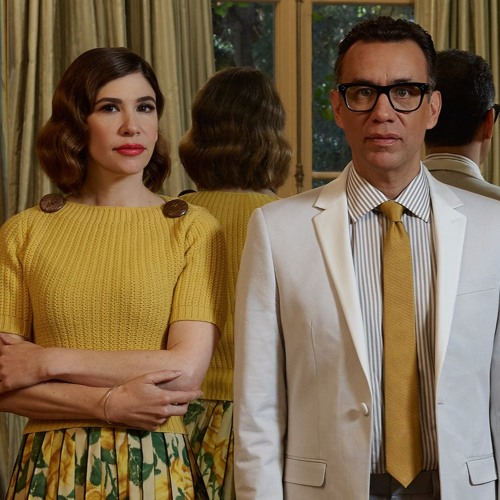 Carrie Brownstein with Fred Armisen