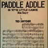 Paddle Addle Your Small Canoe (1917)