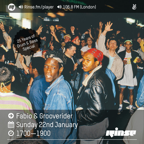 Rinse FM Podcast - Fabio & Grooverider - 22 January 2017