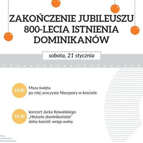 Zakończenie Jubileuszu 800-lecia istnienia naszego Zakonu