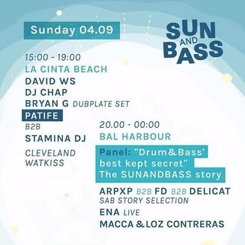 DJ Chap & Cleveland Watkiss - Live @ Sun And Bass - La Cinta Beach 04/09/2016