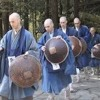 Japanese temple training in the early morning