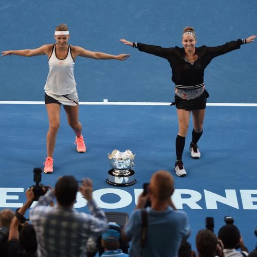 Champion's Corner: Bethanie Mattek-Sands and Lucie Safarova on winning, dancing, and...shots!