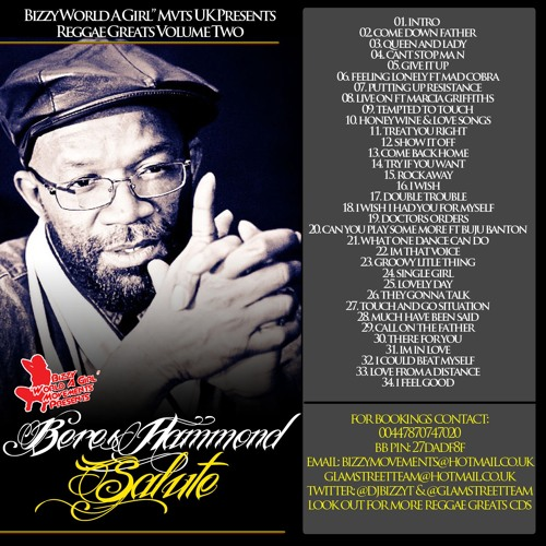 BERES HAMMOND MIX - REGGAE GREATS VOL 2 [BIZZY MOVEMENTS UK] REGGAE ONE DROP MIX 2018 ❤️💛💚
