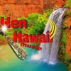 Hen Hawaii 157-158 B/B...Bathing under the waterfall in Maui...