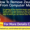 How to remove Zeus Trojan from computer manually?