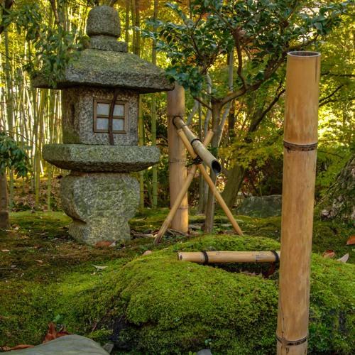 """Suikinkutsu,"" or water-harp hollow"
