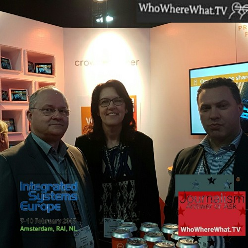 ISE 2017 Integrated Systems Europe by WhoWhereWhat.TV CrowdBeamer.com Peter Ryckaert and Hans Romaen