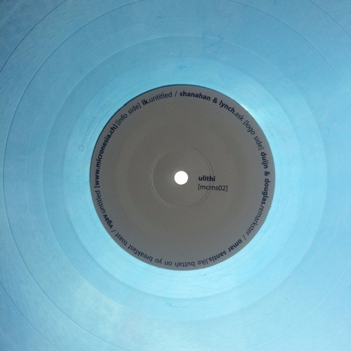 "Ulithi (Limited clear blue 12"") - OUT NOW!!!"
