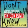 Maroon 5 - Don't Wanna Know (Audio) Ft. Kendrick Lamar (CintoxiK Remix)