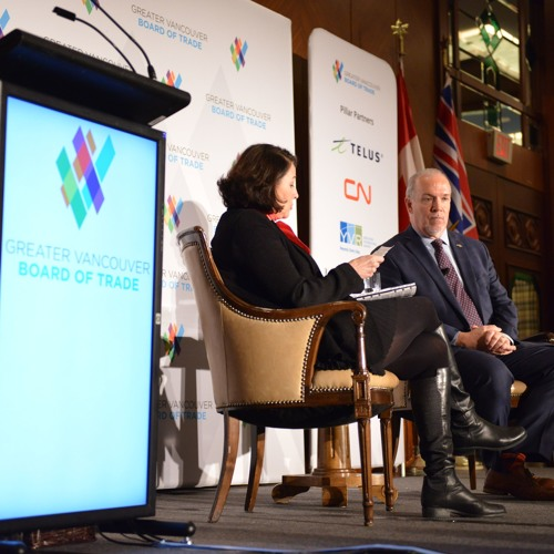 BC NDP Leader John Horgan speaks to business leaders at GVBOT (Feb. 10, 2017)