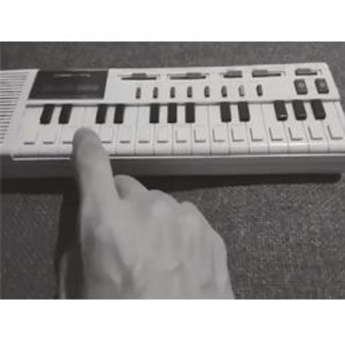 Playing with a toy piano/organ