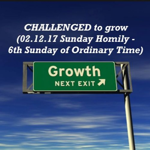 CHALLENGED to grow (02.12.17 Sunday Homily - 6th Sunday of Ordinary Time)