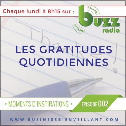 """Les gratitudes quotidiennes - """"Moments d'inspiration"""" - Saison 1 - Épisode 2"""