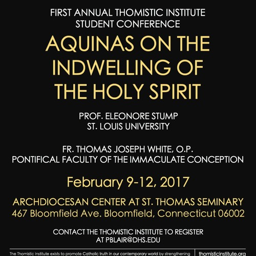 "Prof. Eleonore Stump: ""The Gifts and Fruits of the Holy Spirit"" (Feb 2017, Bloomfield, CT)"