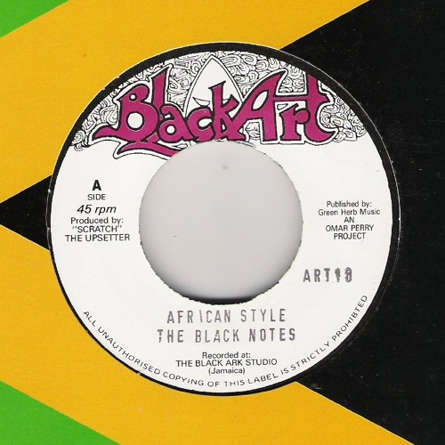 """THE BLACK NOTES - African Style + Version. 7"""" [Black Art Label]"""