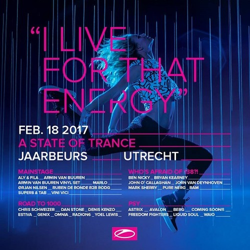 A State Of Trance 800 Festival in Utrecht, The Netherlands (18.02.2017)