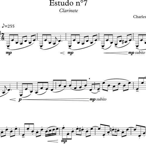 Estudo no. 2 - Clarinete (2017)